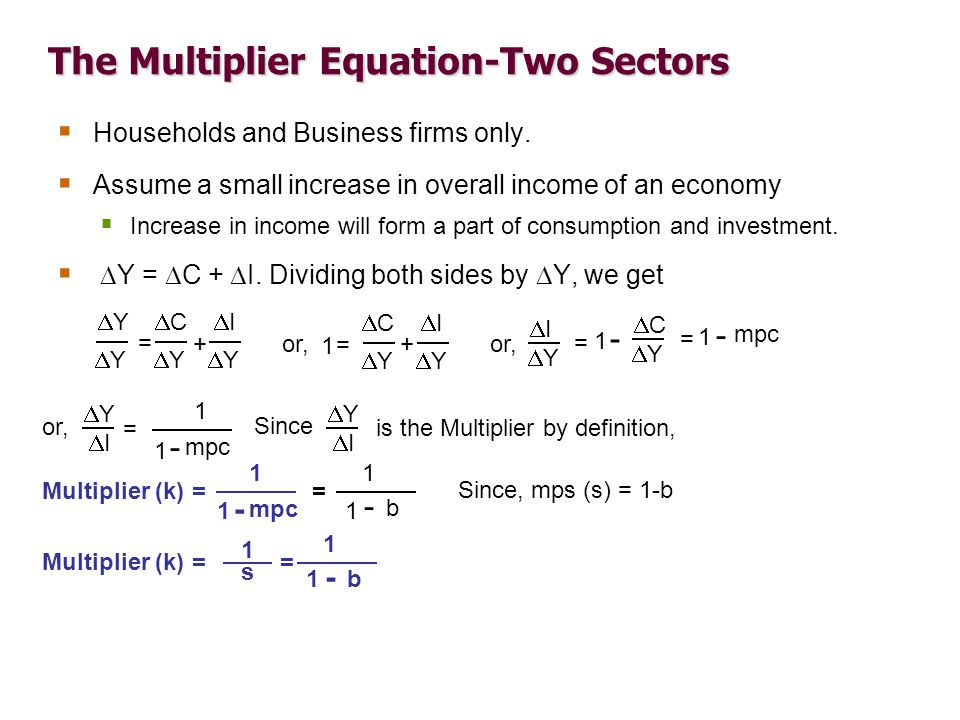 how to find multiplier of economy