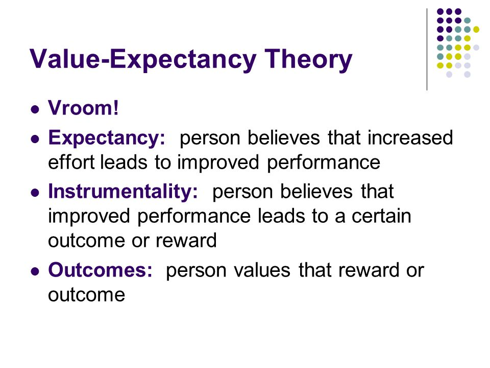 what is expectancy theory pdf