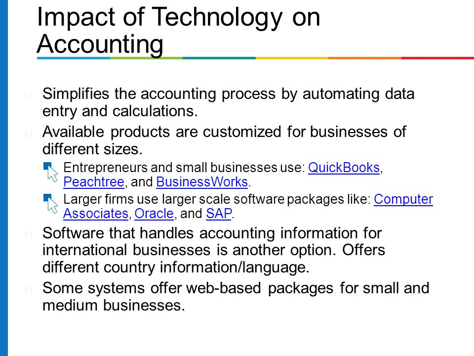 the impact of accounting systems on Impact of computerised accounting system on performance of payroll accounting:  this study aims to assess the impact of computerized accounting systems (cas) on.
