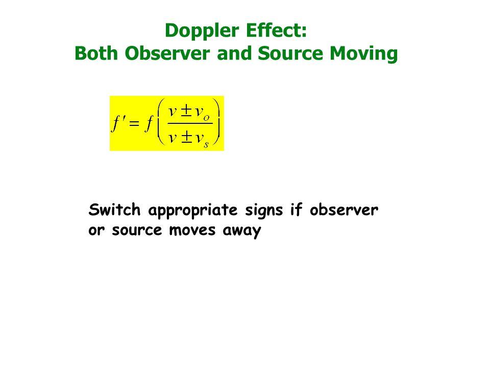 doppler effect equation signs. 10 doppler effect equation signs