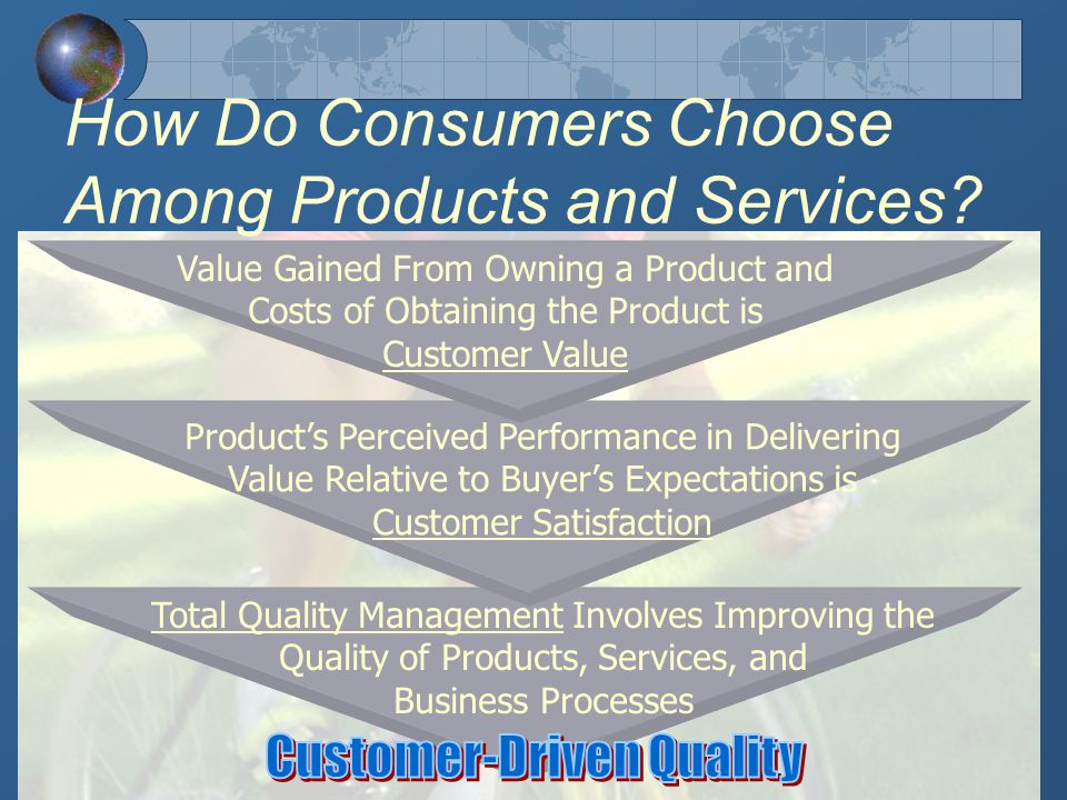 How Do Consumers Choose Among Products and Services