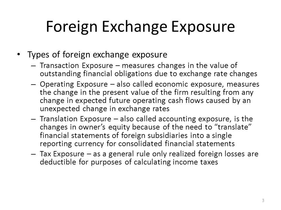 Foreign Exchange Exposure