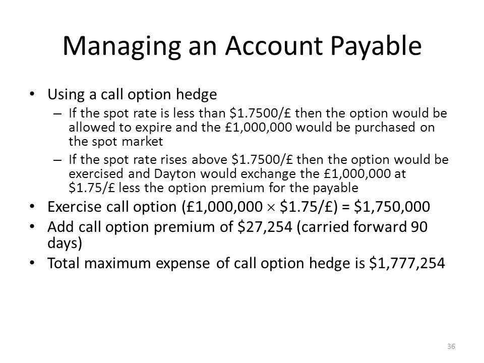 Managing an Account Payable