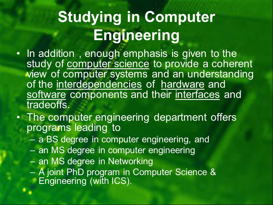 Phd degree in computer engineering