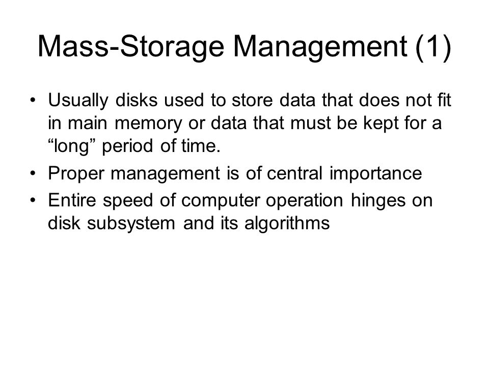 Mass-Storage Management (1)