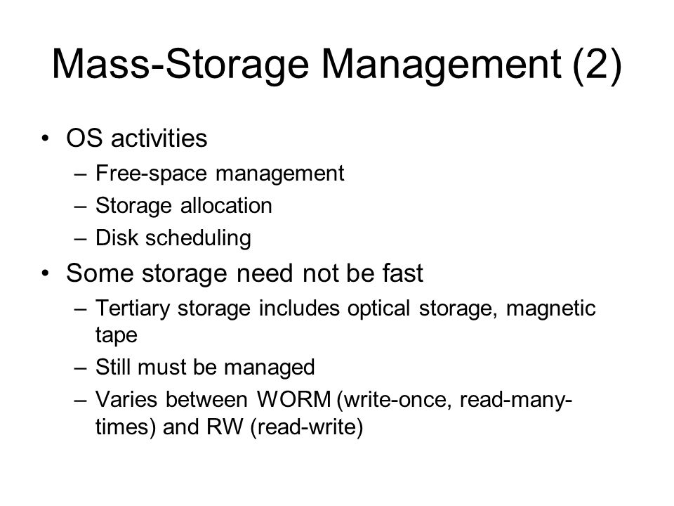 Mass-Storage Management (2)
