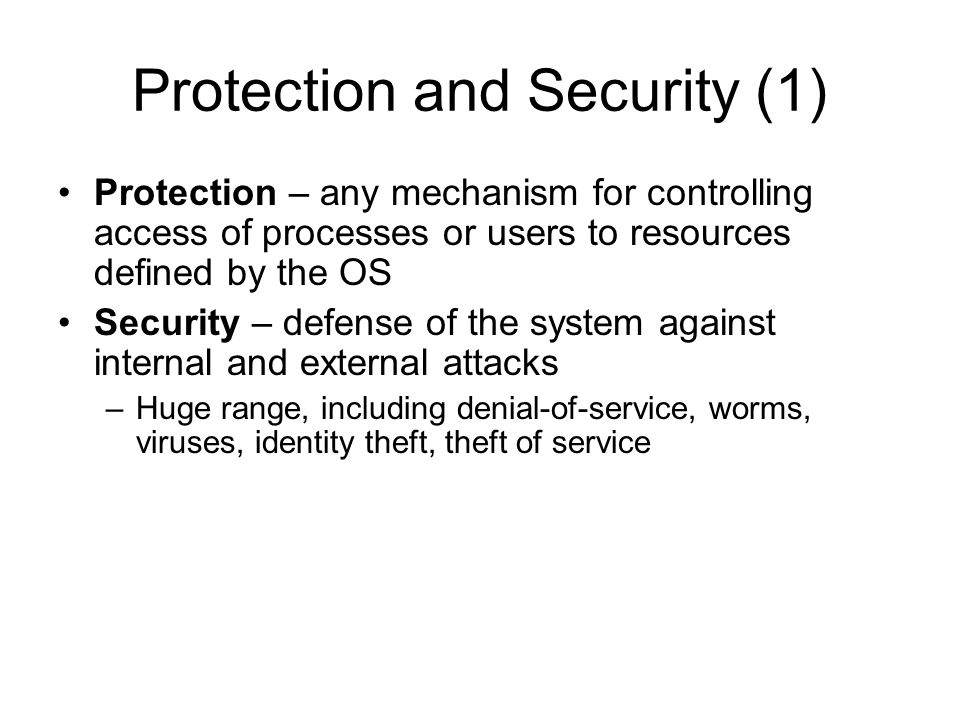 Protection and Security (1)
