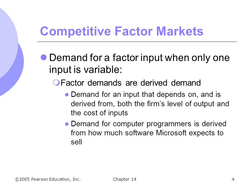 costs and factor inputs Keywords: complementarity output elasticity marginal cost factor price  change  when inputs in the firm's production function are pair-wise  complements,.