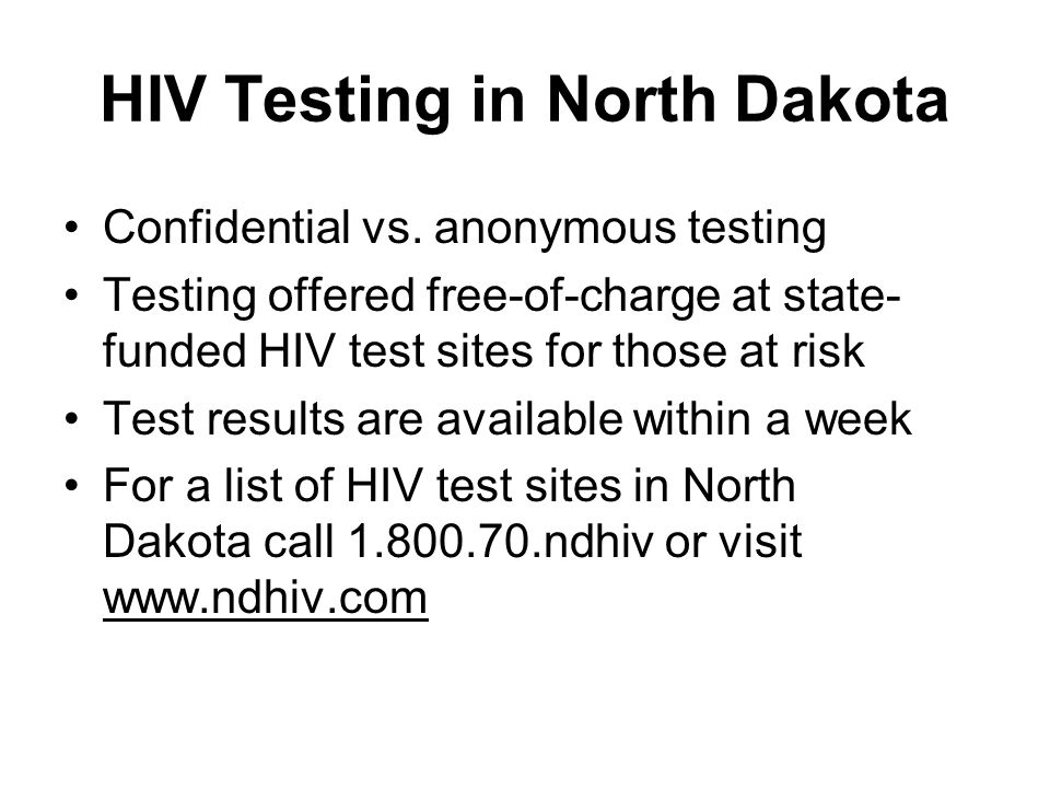 Confidential verses required hiv aids testing