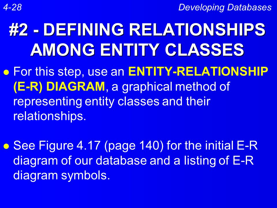 #2 - DEFINING RELATIONSHIPS AMONG ENTITY CLASSES