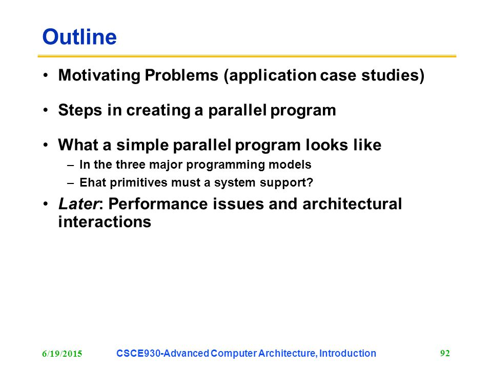 CSCE 930 Advanced Computer Architecture Introductions - ppt download