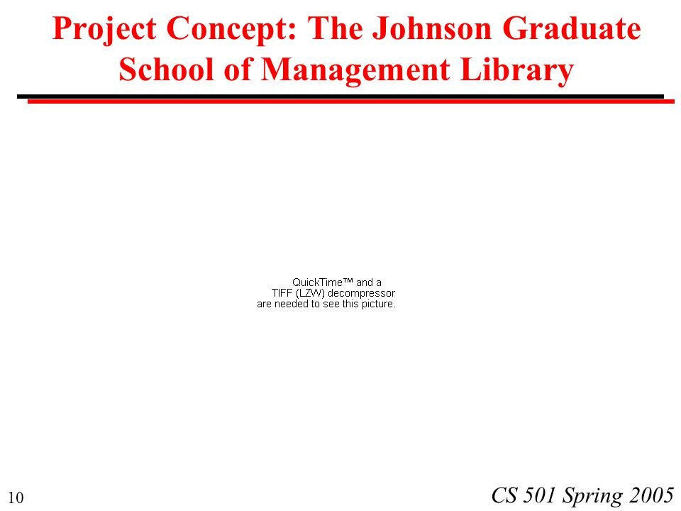 Project Concept: The Johnson Graduate School of Management Library