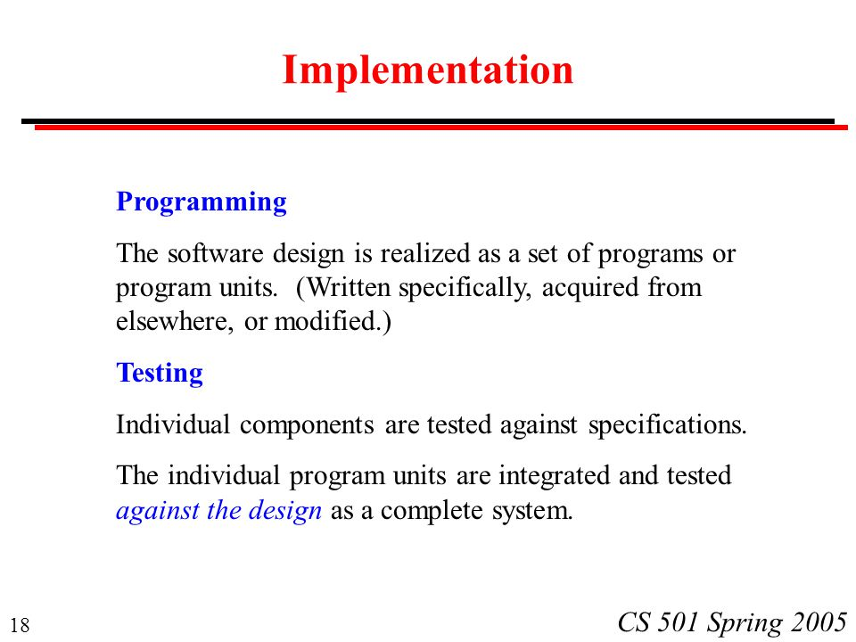 Implementation Programming