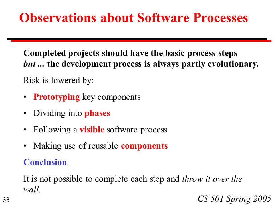 Observations about Software Processes