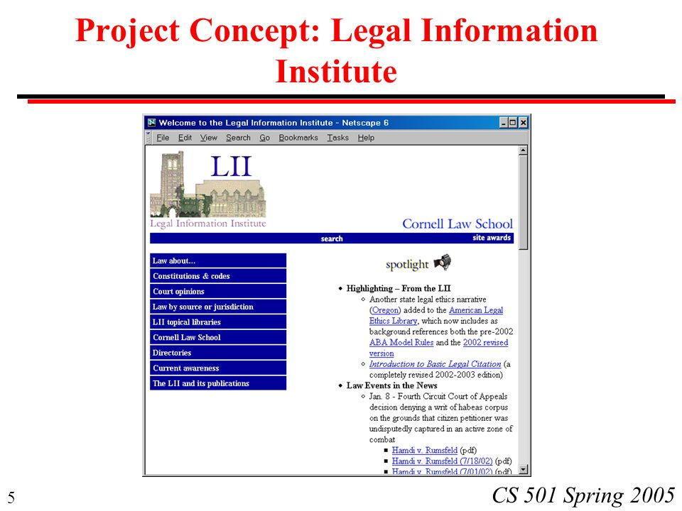 Project Concept: Legal Information Institute