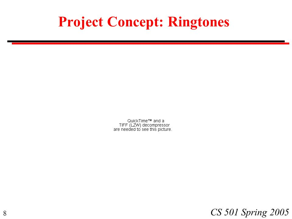 Project Concept: Ringtones