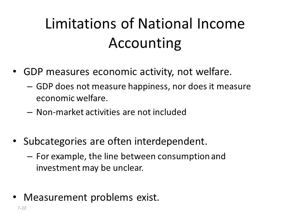 Limitations of National Income Accounting