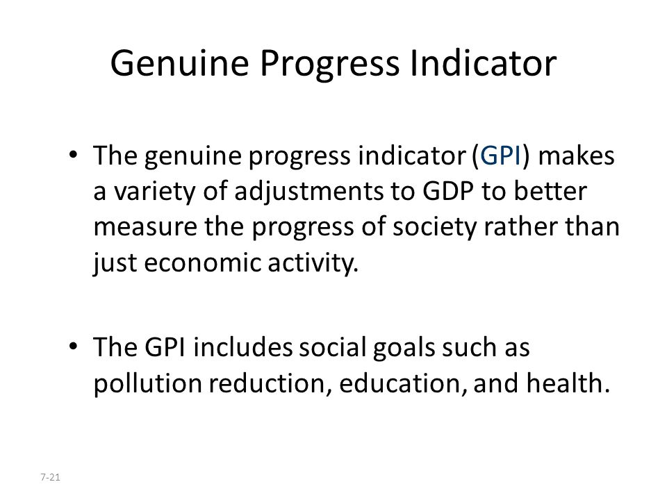 Genuine Progress Indicator
