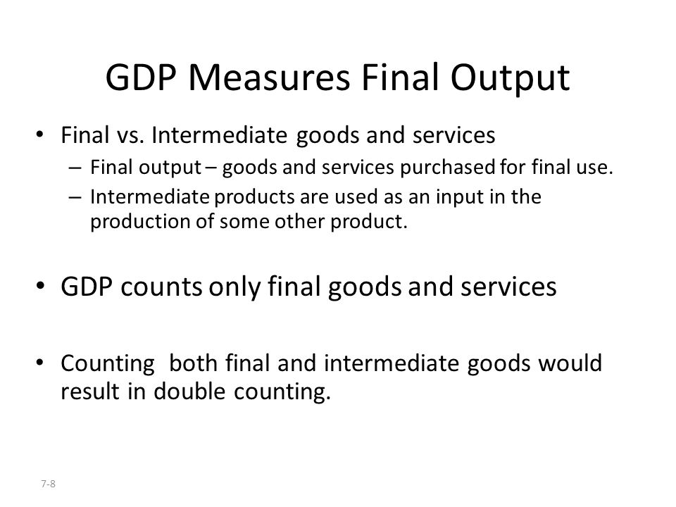 GDP Measures Final Output