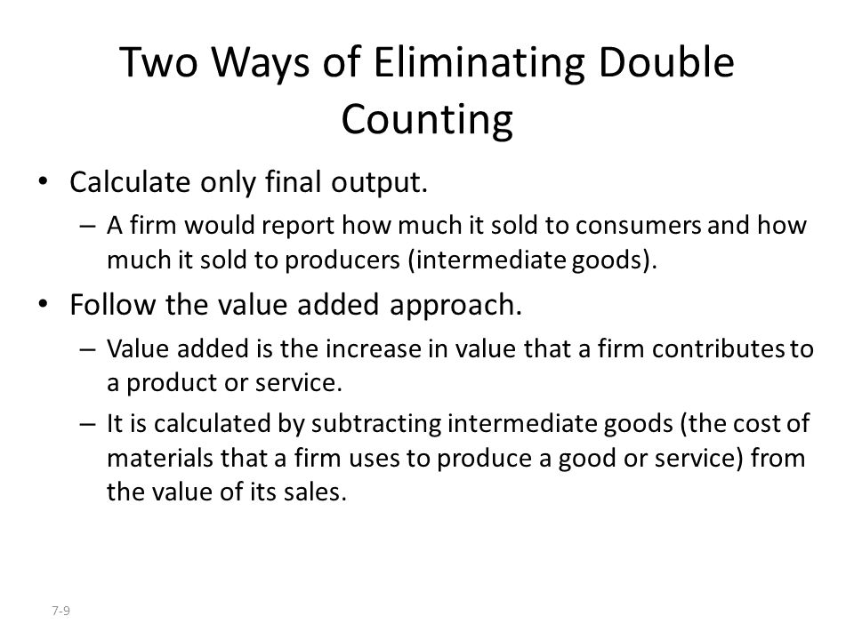 Two Ways of Eliminating Double Counting