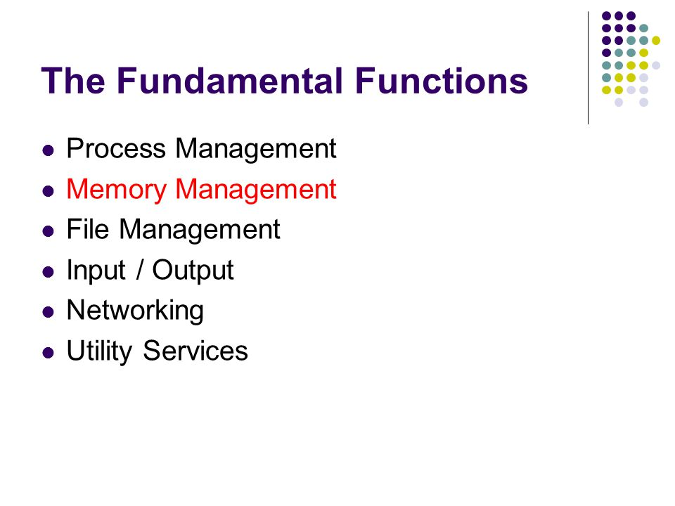 The Fundamental Functions