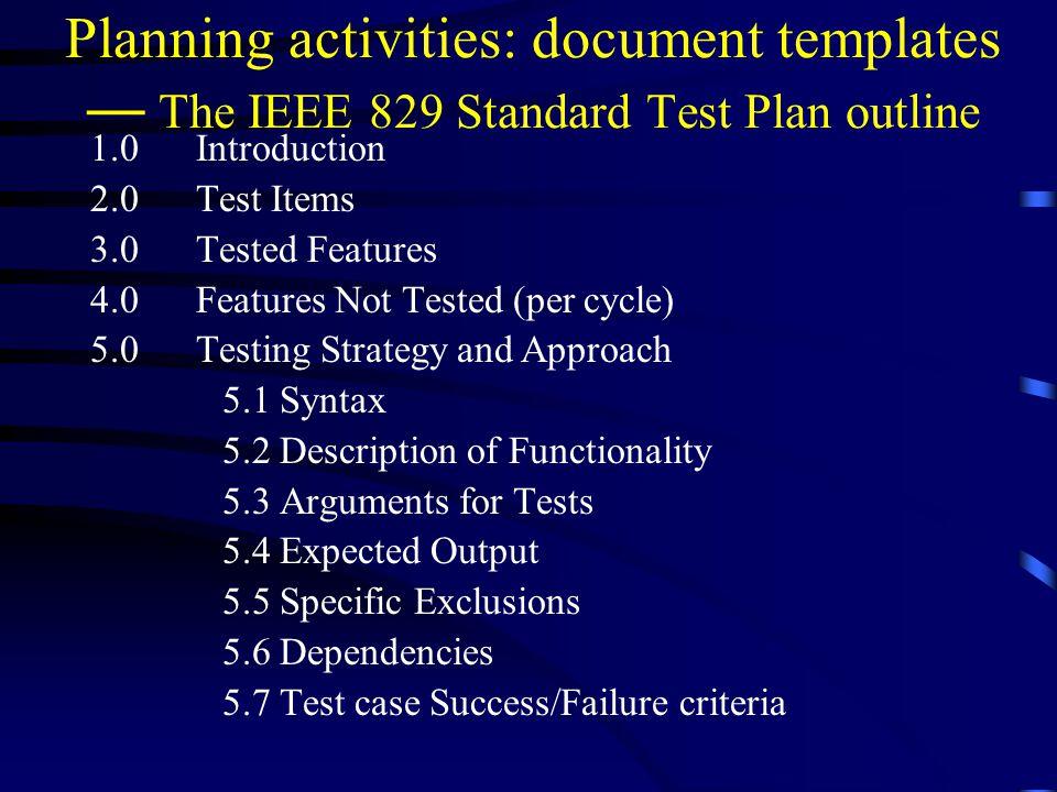 Test Strategy Template Ieee 829 - Costumepartyrun