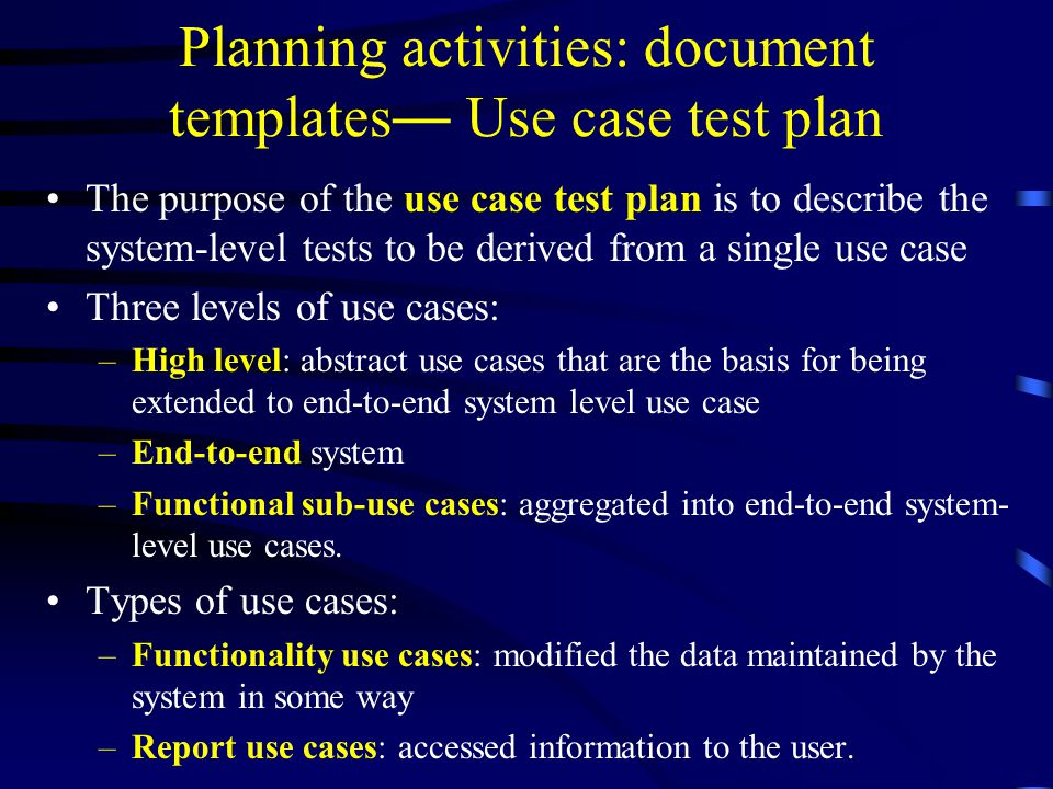 Software Testing and Quality Assurance: Planning for Testing - ppt ...
