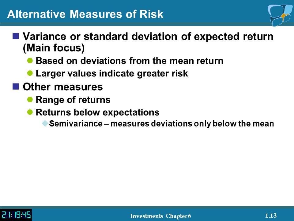 Alternative Measures of Risk