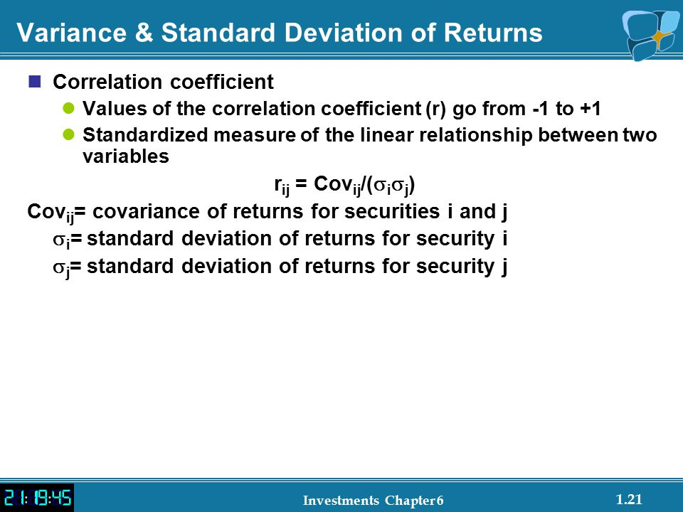 Variance & Standard Deviation of Returns