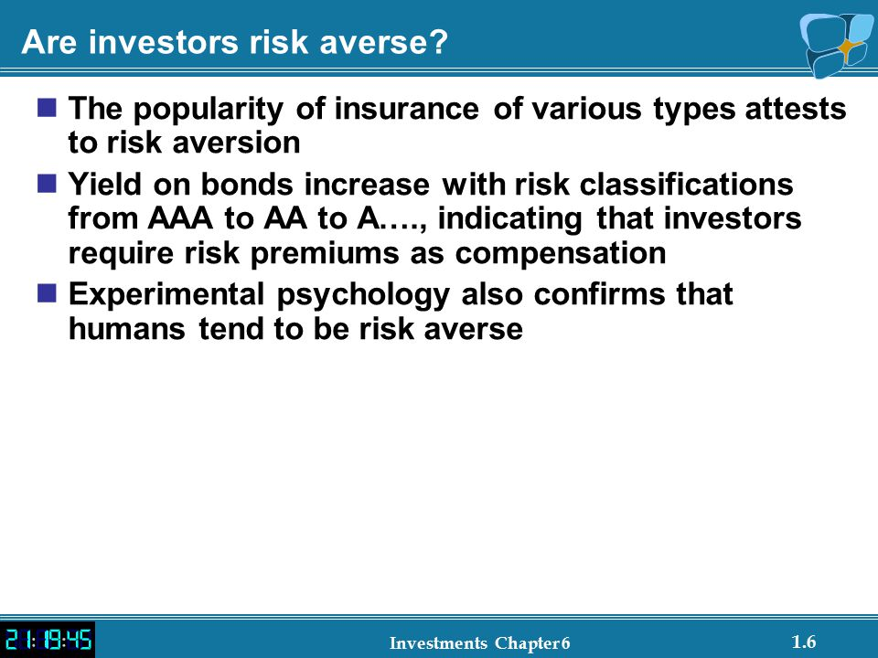 Are investors risk averse