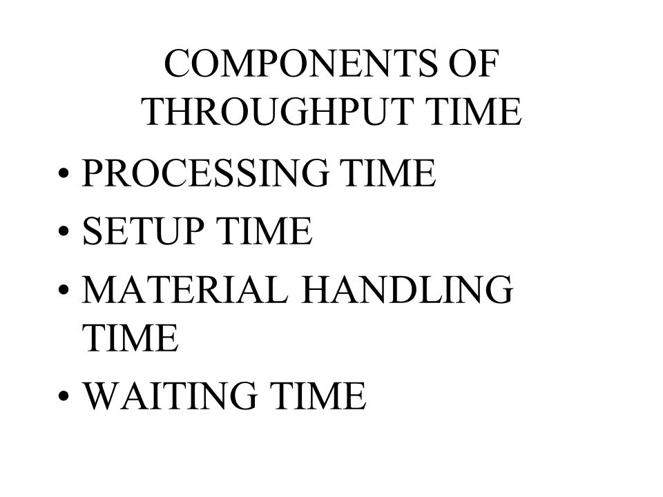 COMPONENTS OF THROUGHPUT TIME