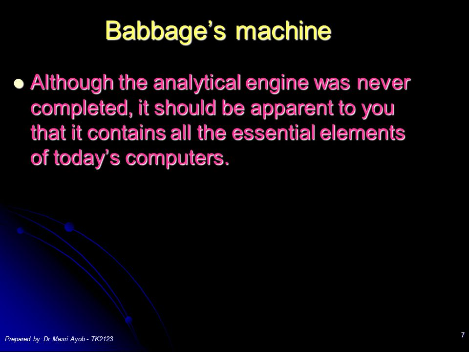 Babbage's machine