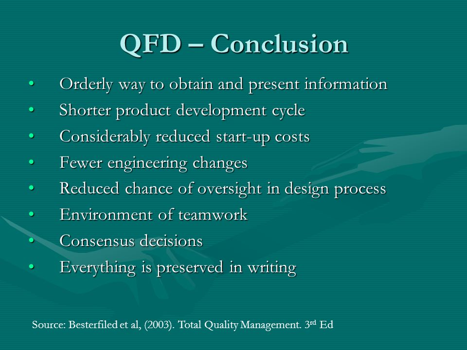 quality functional deployment qfd ppt video online qfd conclusion orderly way to obtain and present information