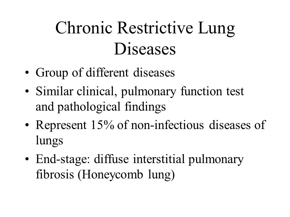 Chronic Restrictive Lung Diseases