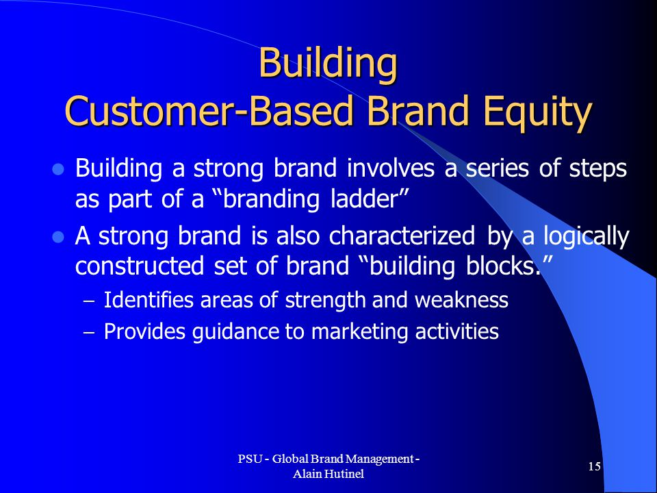 2 customer based brand equity Chapter 2 (customer based brand equity) 1 customer based brand equity 2 • the differential effect that brand knowledge has on consumer response to the marketing of that brand.