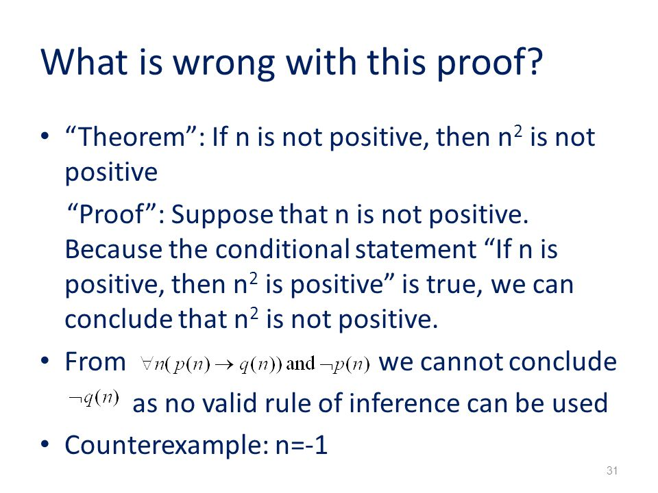 What is wrong with this proof