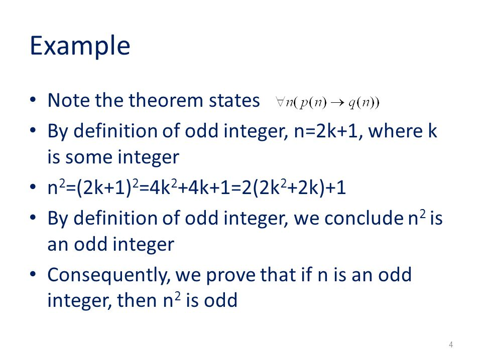 Example Note the theorem states