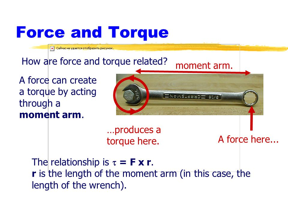 Force and Torque How are force and torque related moment arm.