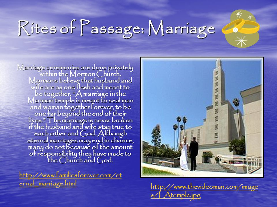 "the stance of the church of jesus christ of latter day saints on successful marriages and divorce D is for divorce october 20, 2005 by  the church of jesus christ of latter-day saints officially disapproves  just a comment about the ""neutrality"" stance."