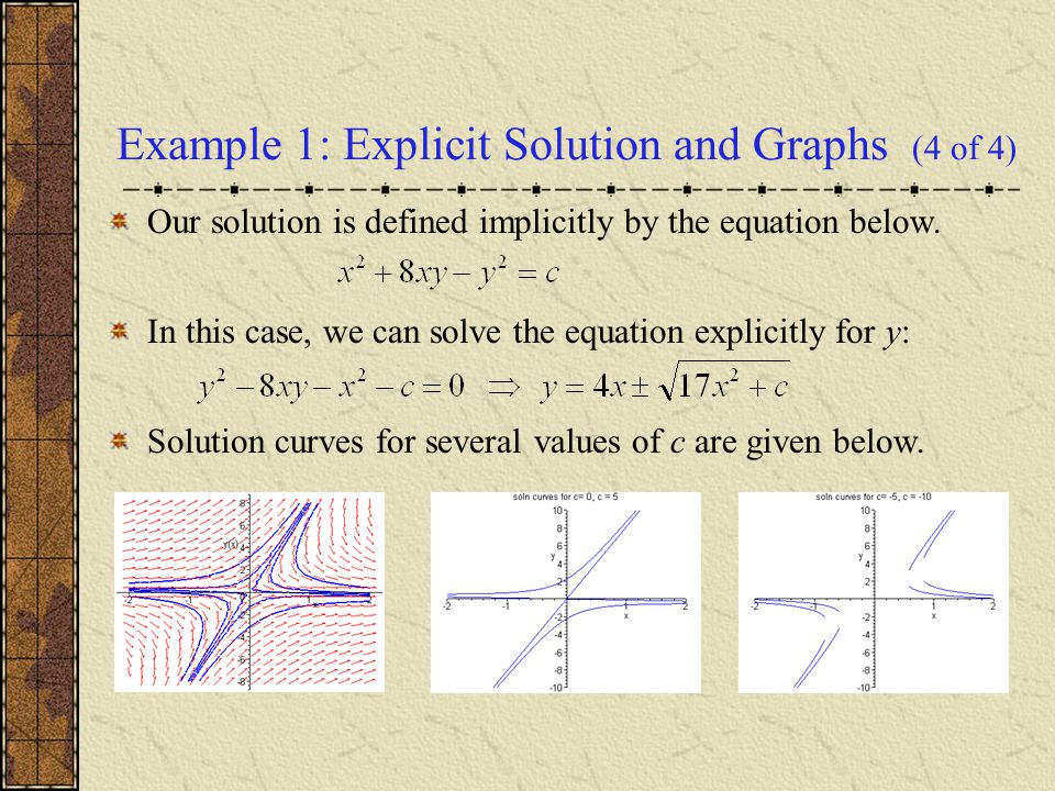 non exact differential equation example with solution pdf