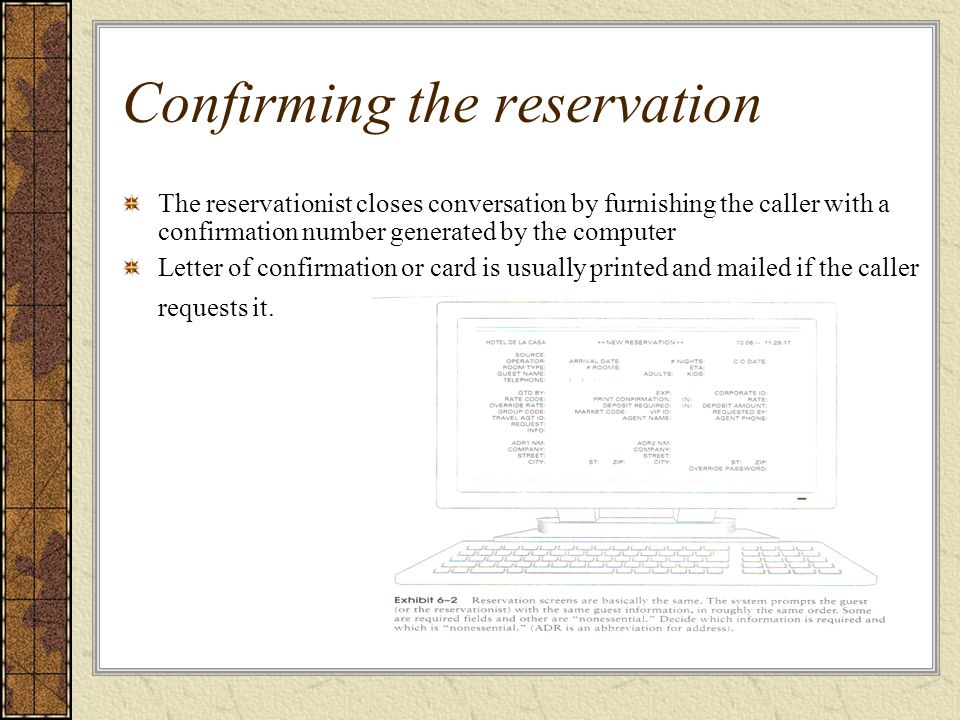 Individual Reservations And Group Bookings - Ppt Download