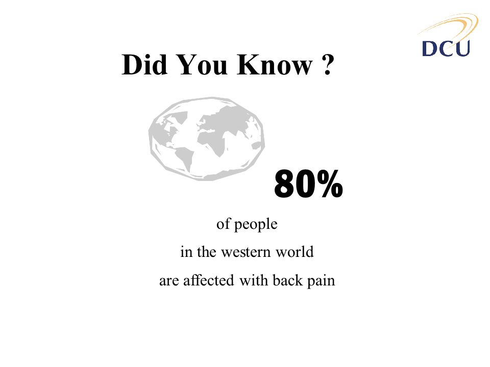 are affected with back pain