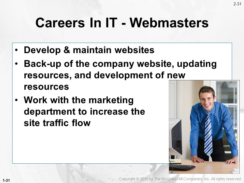 Careers In IT - Webmasters