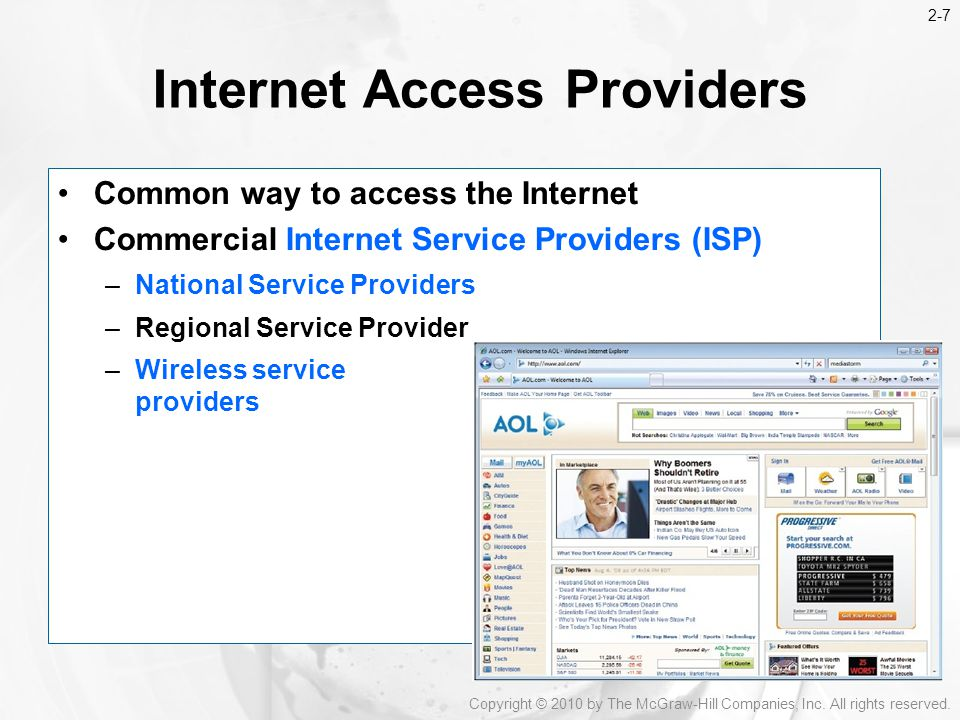 Internet Access Providers