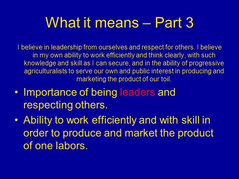 What it means – Part 3