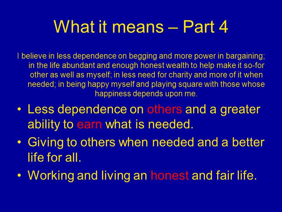 What it means – Part 4