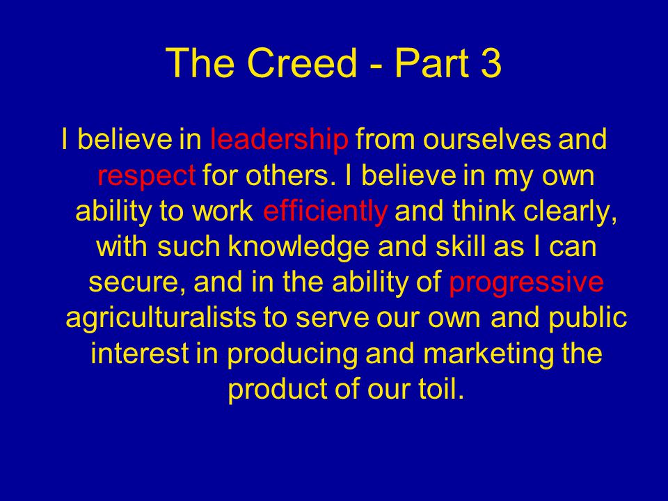 The Creed - Part 3