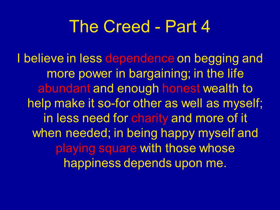 The Creed - Part 4