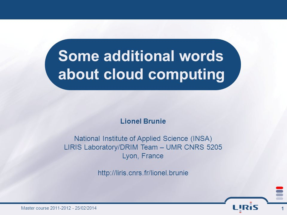 Some additional words about cloud computing