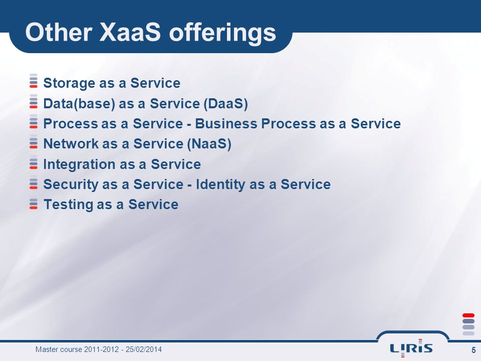 Other XaaS offerings Storage as a Service